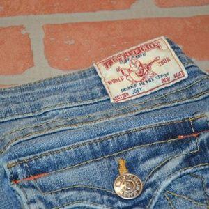 2828 Womens True Religion Jeans 29 x 32.5 Blue